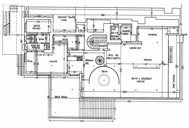 Modern Floor Plan Villa Tugendhat Arquitectura, Plano de