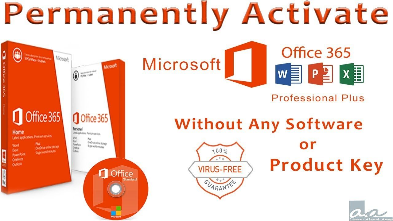 Permanently Activate Office 365 Pro Plus || Without any Software ...