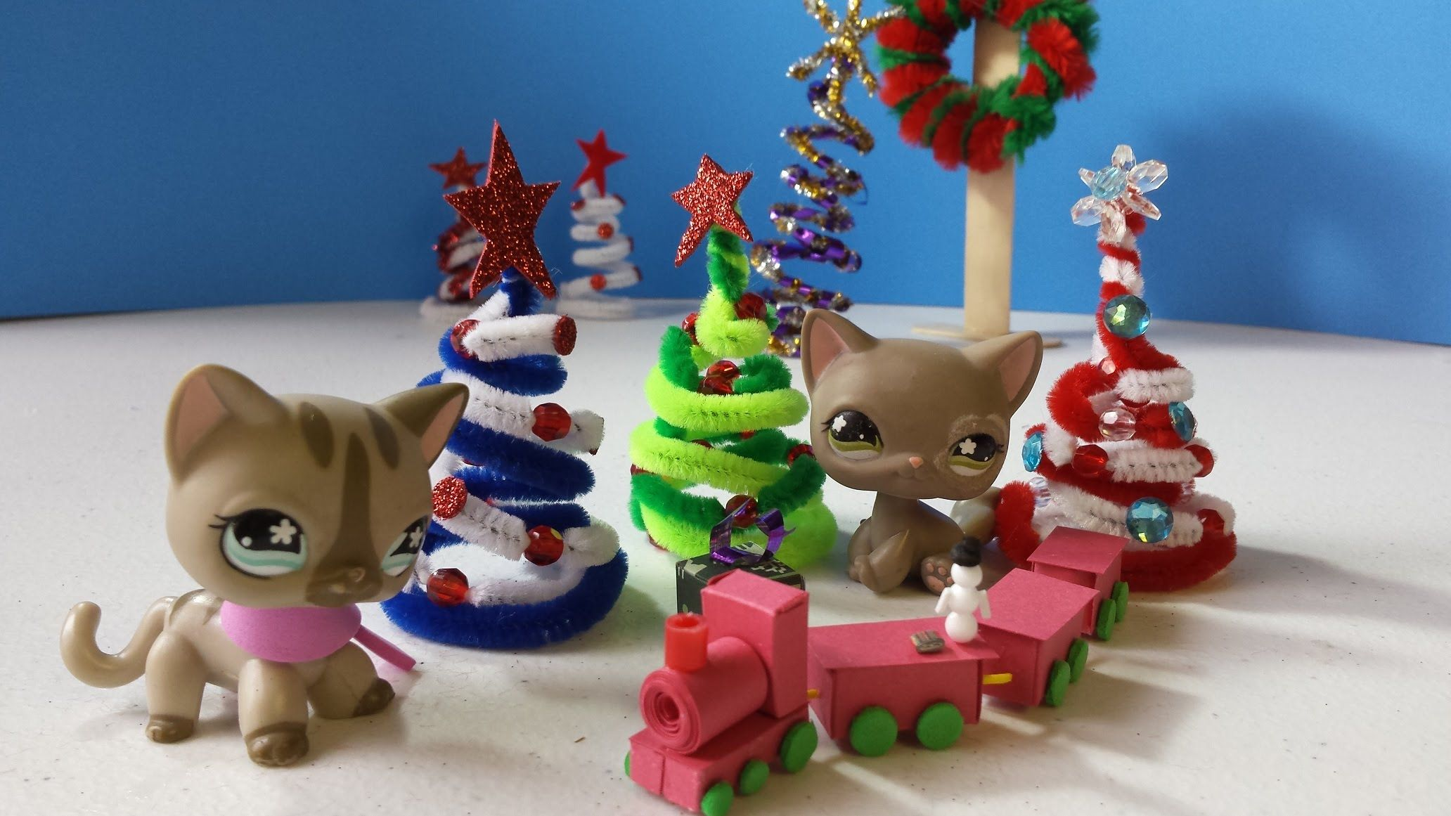 How to Make an LPS Christmas Tree: Doll DIY | Dollhouse DIY ...