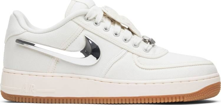 Travis Scott X Air Force 1 Sail With Images Nike Travis