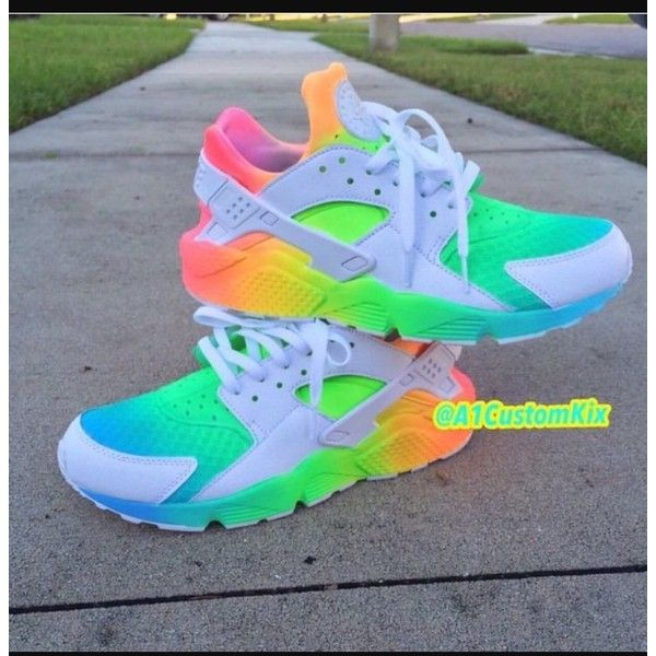 new style b7dbf 02f3f CHANELLE x ROSEGOLD Rainbow Nikes, Neon Rainbow, Neon Nikes, Rainbow  Sneakers, Nike