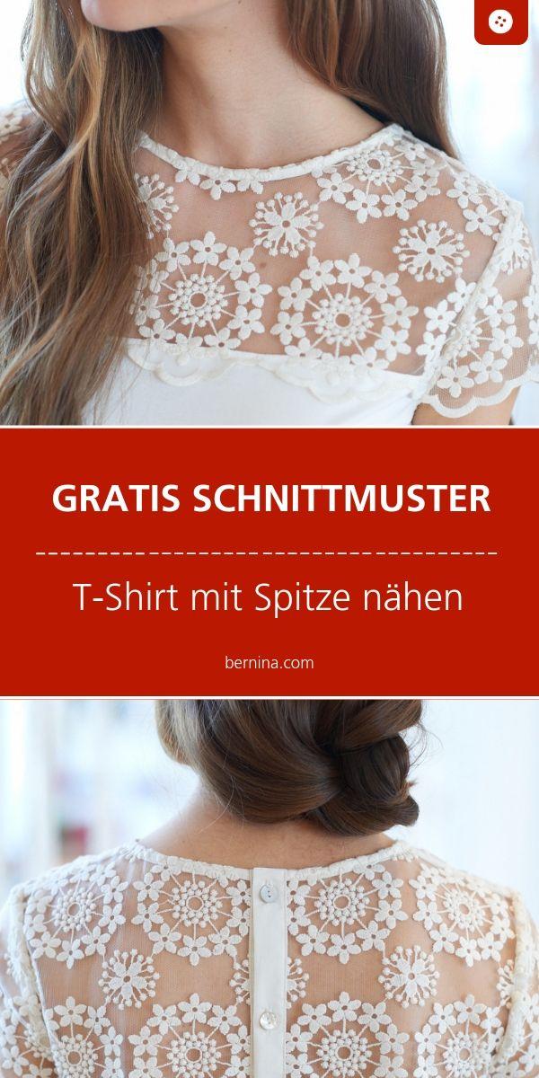 Schnittmuster Freebie Spitzen-Shirt