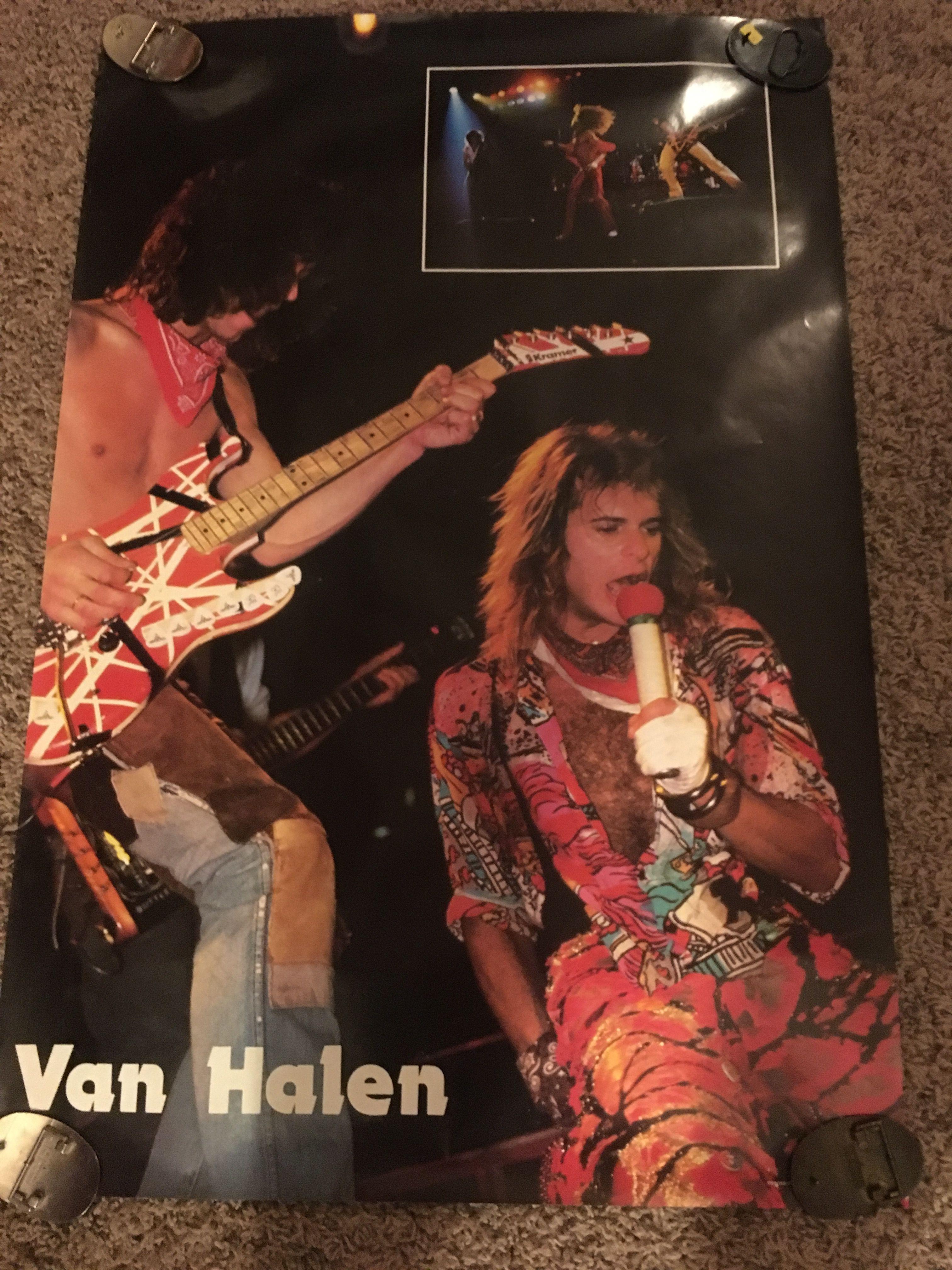 Vintage Van Halen Poster 1984 From Scotland Eddie Van Halen Van Halen David Lee Roth