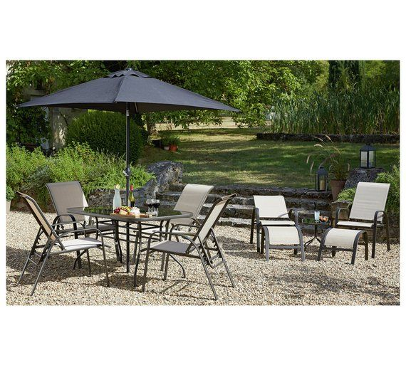 Buy HOME Sicily 11 Piece Adjustable Dining Set at Argos
