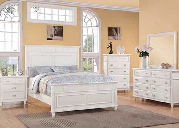 The Furniture Warehouse Elements Spencer White Queen Headboard Footboard Rails Dresser Mirror And Nightstand Furniture White Queen Bed Home White headboard and footboard
