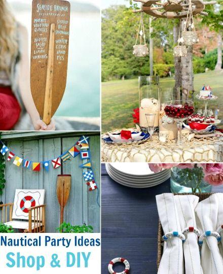 7 Stylish Nautical Party Decorations Diy Nautical Party Beach