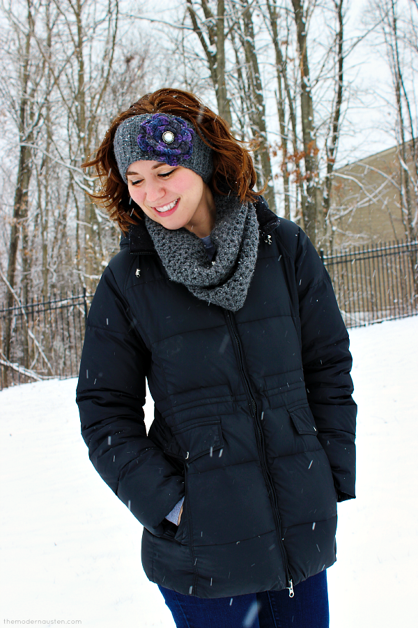 Enter to win this croched headband and scarf by Coppertop's Crocheted Creations at themodernausten.com!