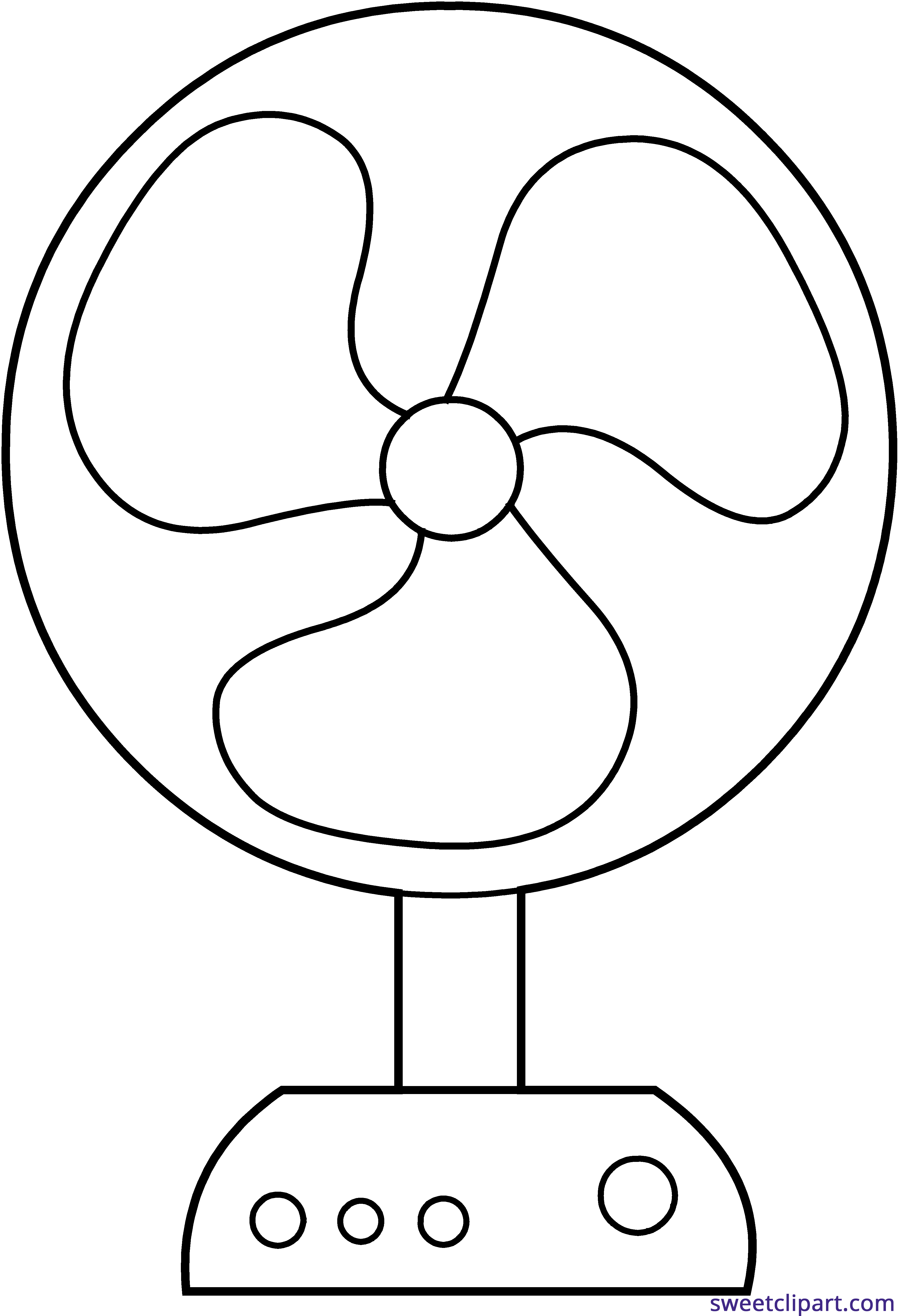 Electric Fan Line Art Clipart Sweet Clip Art Clip Art Free Clip Art Cute Coloring Pages