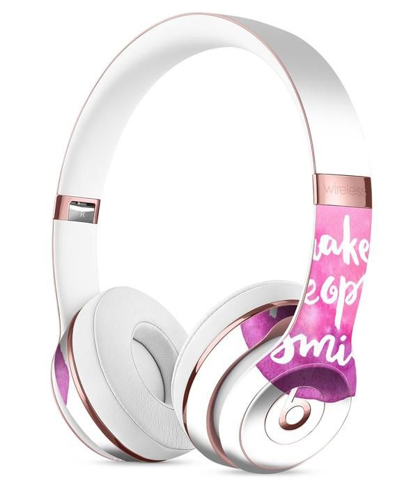14bf867702e Watercolor Pink Make People Smile Full-Body Skin Kit for the Beats by Dre  Solo 3 Wireless Headphones