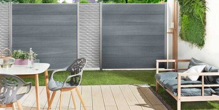 System Wpc Xl Sichtschutz Garten Terrassenwand Gartenmauer