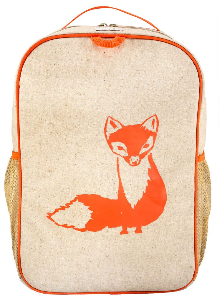 Orange Fox Grade School Backpack - SoYoung - eco-friendly bags and  accessories for the modern family - designed in Canada 083f4f62d5f43