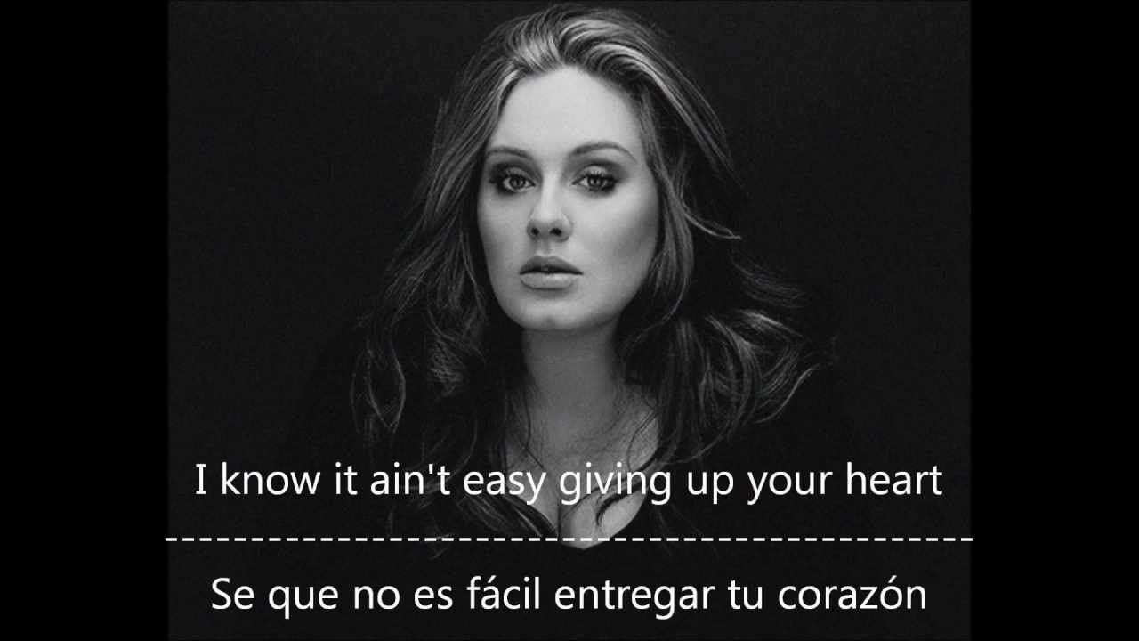 Adele One And Only Subtitulos En Español E Ingles En