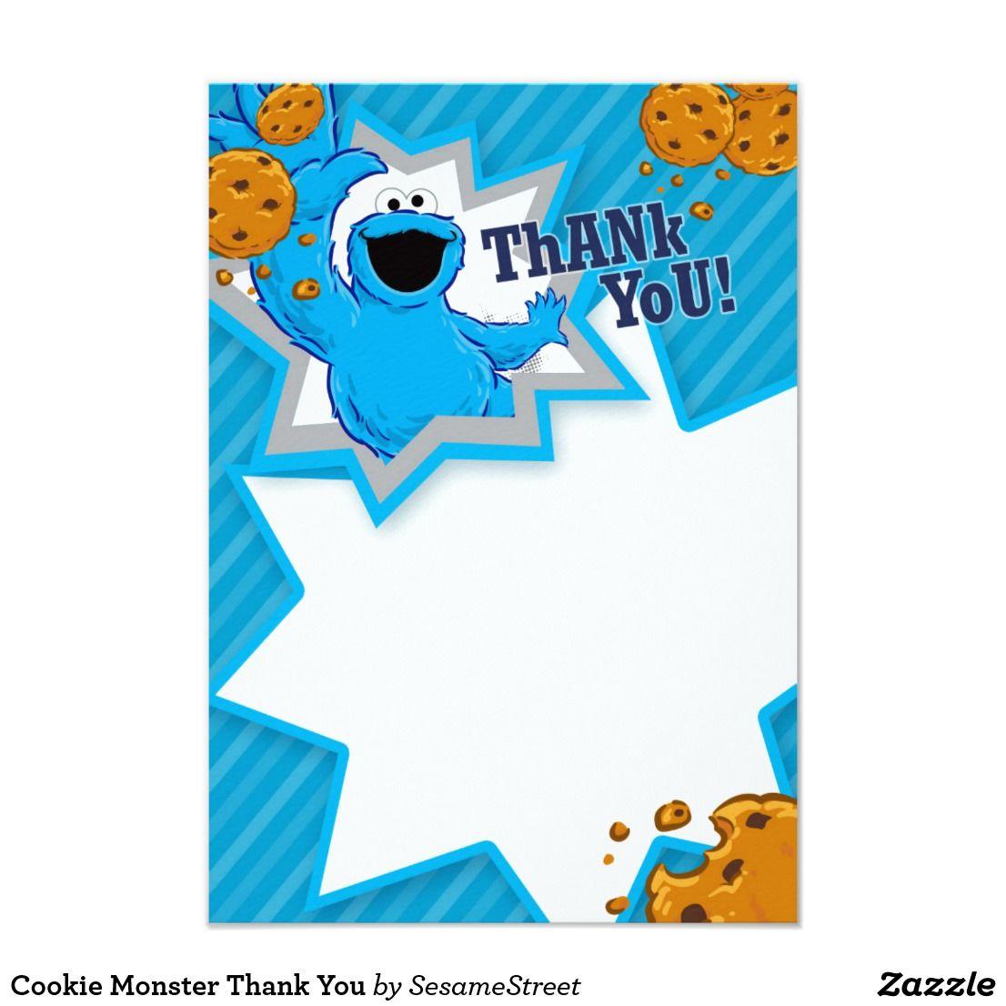 Cookie Monster Thank You | Kid\'s Birthdays | Pinterest | Cookie ...