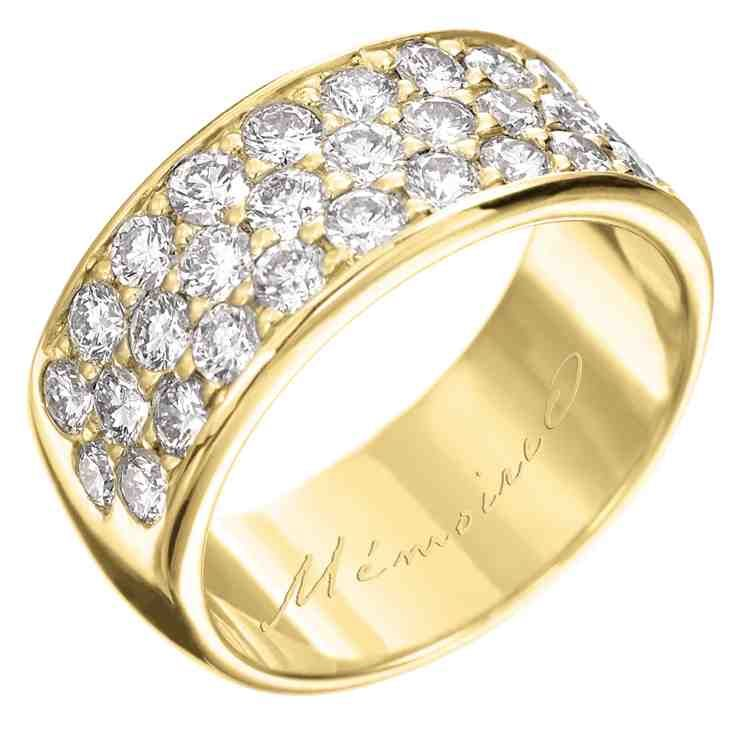 Yellow Gold Band Engagement Rings