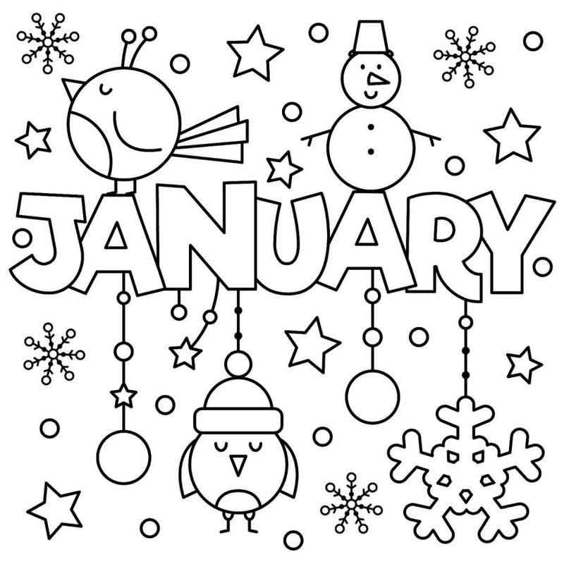 January Coloring Pages New Year Coloring Pages Preschool Coloring Pages Coloring Pages For Kids