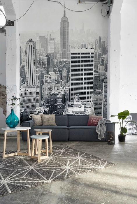 City View Wallpaper For Guest Room Wallpaper Living Room Feature Wall Wallpaper Feature Wall Bedroom