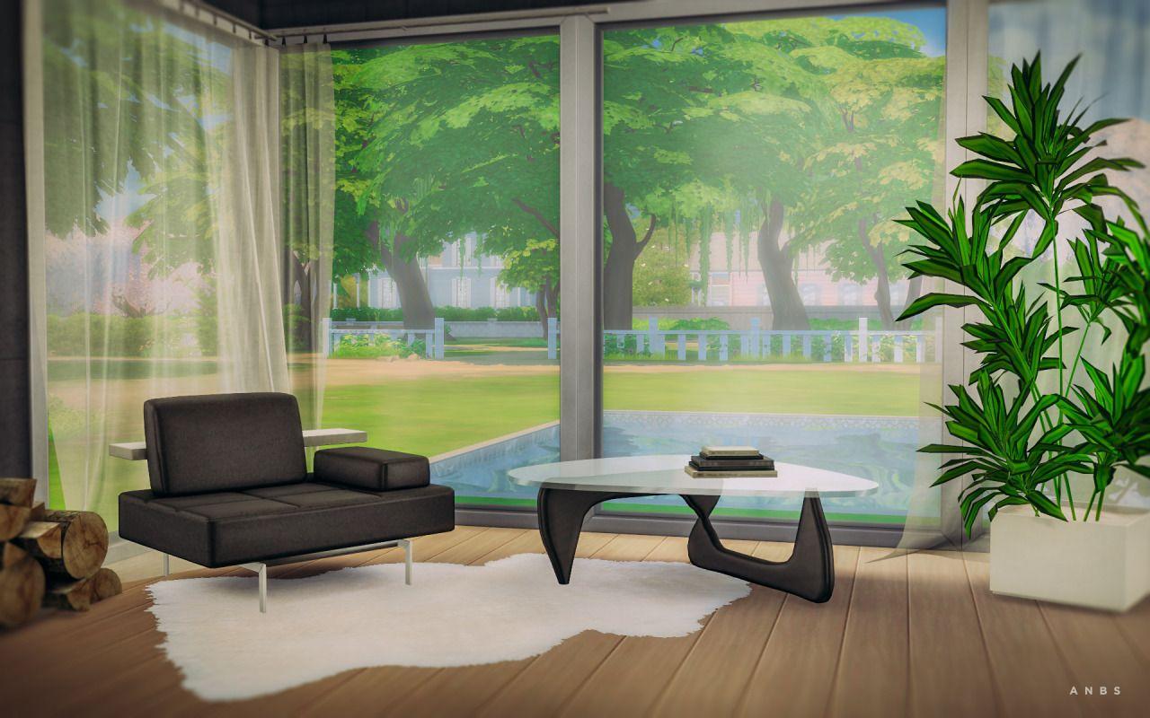 Noguchi Table Sheepskin Rug I Decoration I By Alachie Brick Sims Via Anbs Co I Maxis Match I Sims 4 I Ts4 I Cc I Noguchi Table Sims 4 Sims [ 800 x 1280 Pixel ]