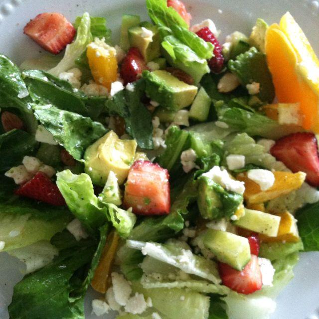 Avocado citrus salad with citrus balsamic vinegarette