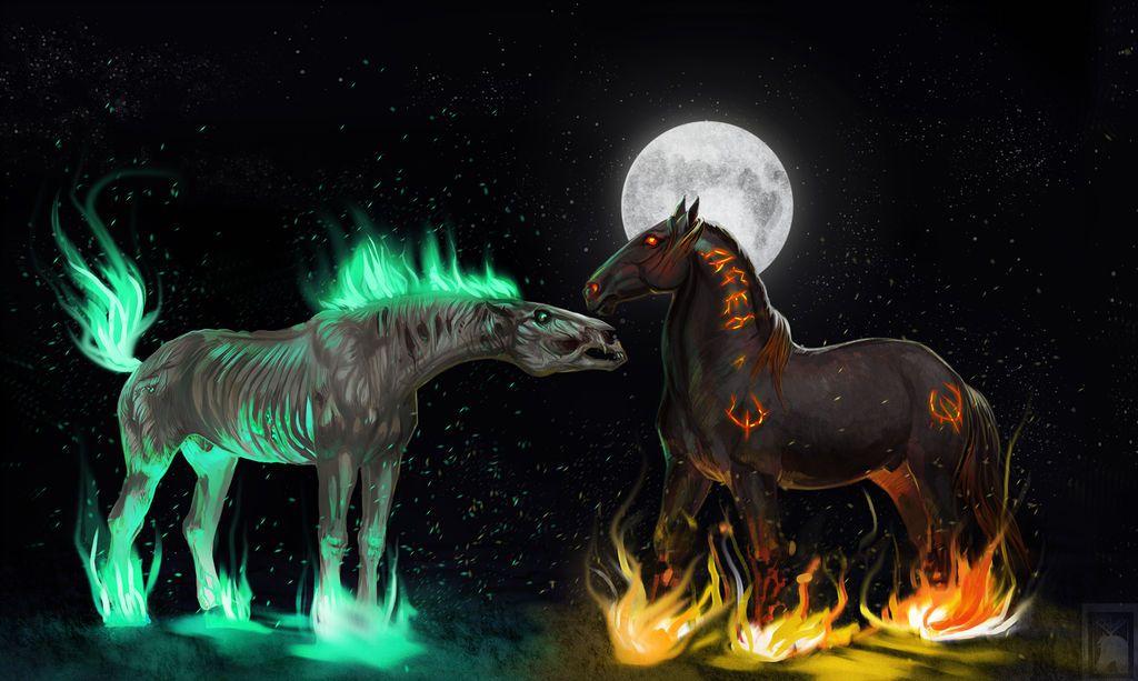 Картинки конь смерти