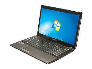 """ASUS A53Z-NB61 Notebook AMD A-Series A6-3420M(1.5GHz) 15.6"""" 4GB Memory 320GB HDD 5400rpm DL DVD+/-RW/CD-RW AMD Radeon HD 6520G"""
