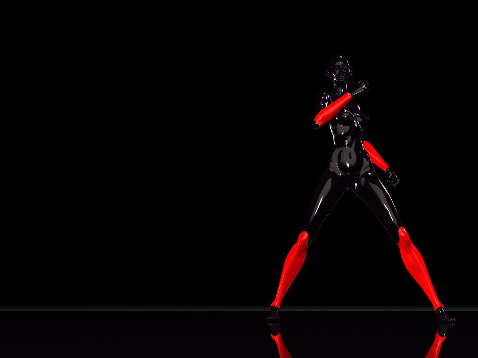 Black And Red >> Puma Black And Red Girl Wallpaper Black And Red Red Black