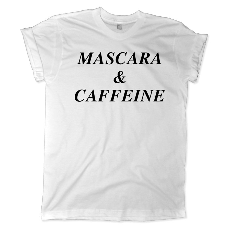 Mascara Quotes Endearing Mascara And Caffeine Shirt Caffeine Humor Mascara Quotes Funny