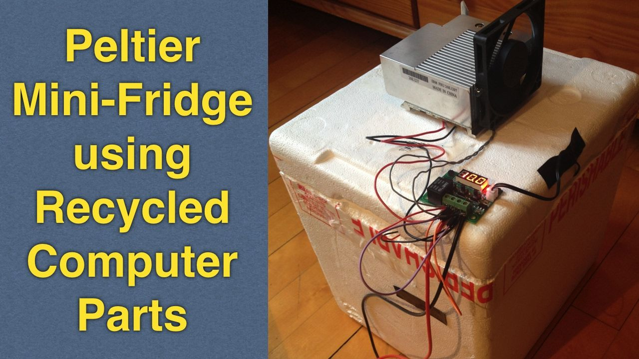 Homemade Peltier Cooler W Temperature Control Diy Reusing Old Pc Amplifier With The Digital Potentiometer Controlled By Arduino Uno Computer Parts
