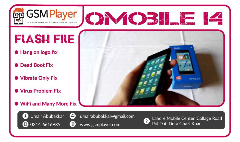 QMobile I4 Firmware   GSM Player   Filing, Tools, Projects to try