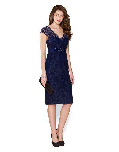Monsoon Damen Layla Kleid mit Spitze Größe 50 Blau Monsoon http ...
