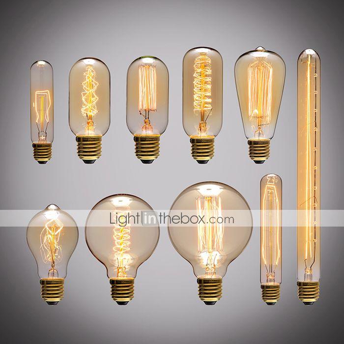 Retro Vintage E27 Artistic Filament Bulb Industrial Incandescent 40w Touw Lamp Light Bulb Retro Verlichting