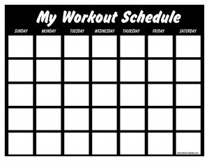 Print Your Own Workout Calendar Also Has PreFilled Workouts For