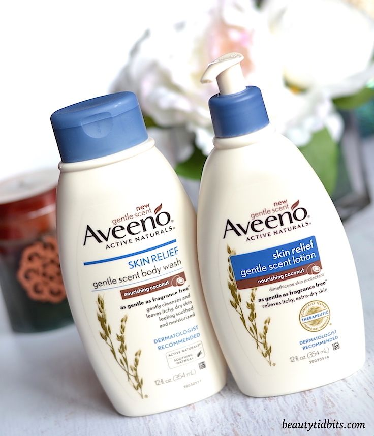 AVEENO Skin Relief Gentle Scent Nourishing Coconut Body Wash And Lotion