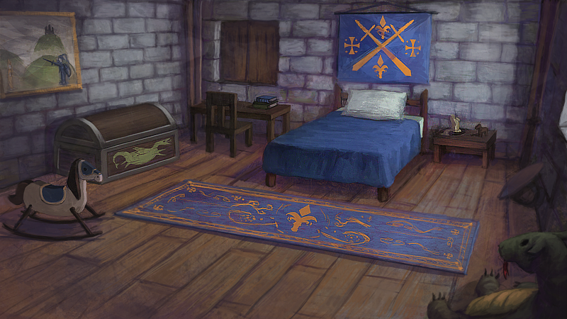 Medieval kid room by cavalieredispade castle interiors for Medieval bedroom design