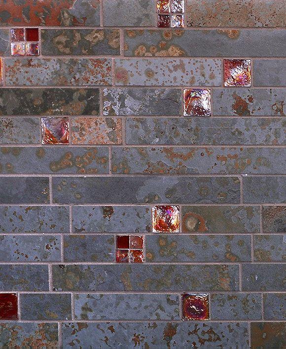 Ba1046 Slate Glass Slate Backsplash Tile Backsplash Colorful Backsplash