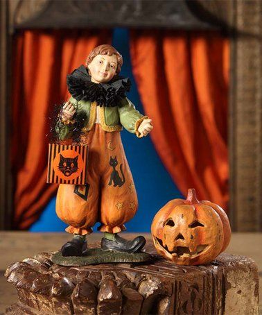 Look what I found on #zulily! Pumpkin Clown Boy Figurine - lowes halloween