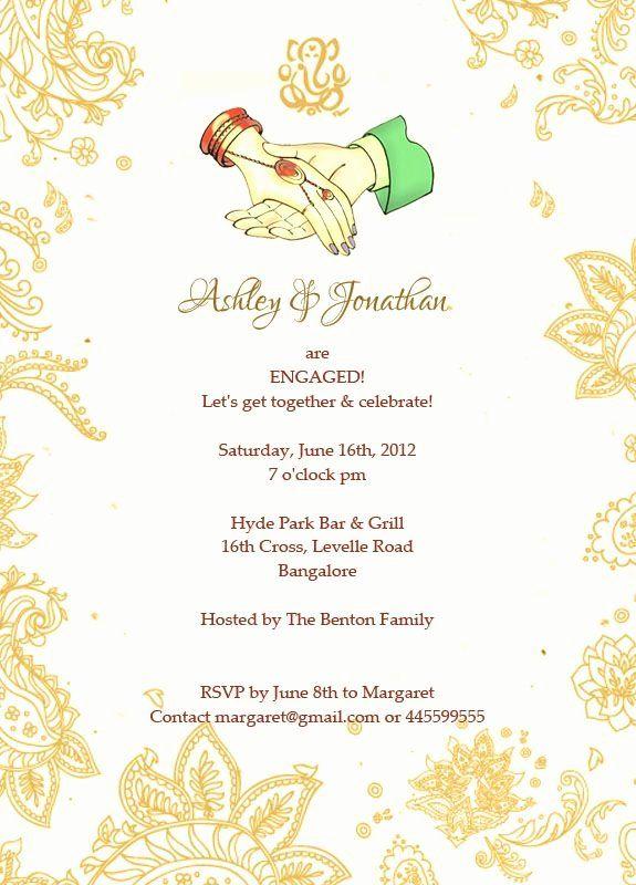 Get Together Invitation Message Fresh Sanjog Roshni Are Ting Engaged Let S To Her Engagement Invitation Wording Engagement Invitations Invitation Wording