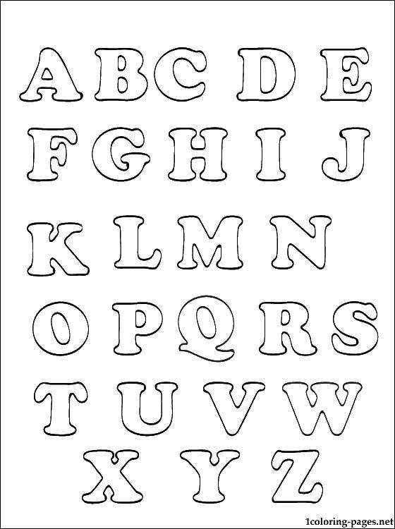 Английский алфавит in 2020  alphabetvorlagen buchstaben