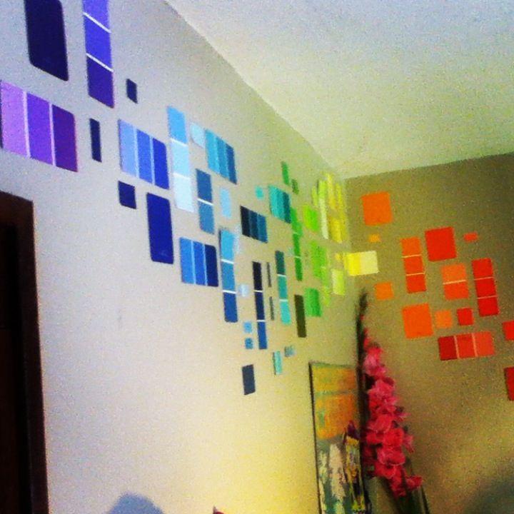 Attractive Diy Paint Chip Wall Art Frieze - Art & Wall Decor ...