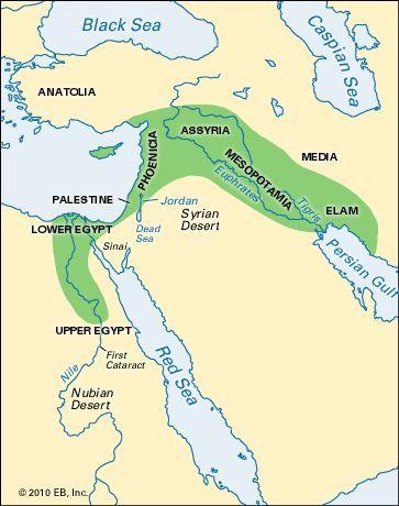 Euphrates River--------Babylon, the capital of Babylonia, an ancient ...