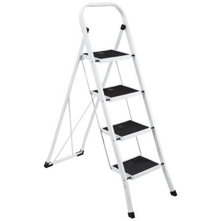 Miraculous Mllieroo Portable Folding 4 Step Ladder Steel Stool 300Lb Caraccident5 Cool Chair Designs And Ideas Caraccident5Info
