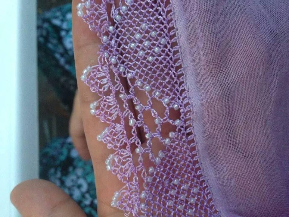 crochê com agulha de costura: Selmanin el islerım