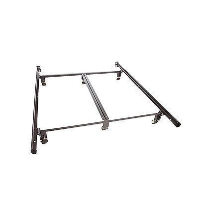 Queen style size Metal Bed Frame with Double Center Rail for Maximum