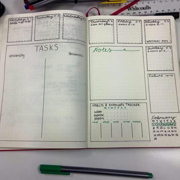Calendar Stamp Bullet Journal : Bullet journal weekly ausprobieren journals