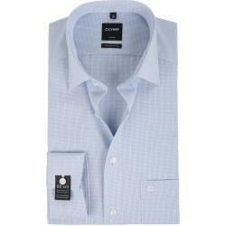 Photo of Olymp Luxor Non-Iron Shirt Sl7 Modern Fit Blue Check Olymp