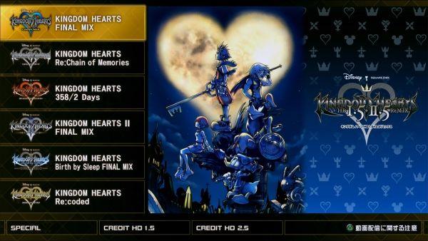 Kingdom Hearts Hd 1 5 2 5 Remix Screenshots Reveal Title Selection Screen Kingdom Hearts Hd Kingdom Hearts Kingdom Hearts Games