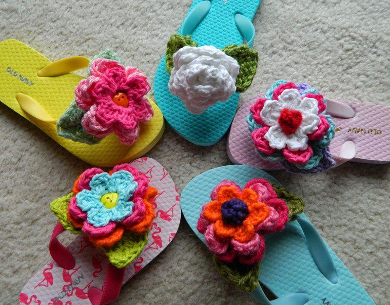 crochet d lane: Embellishing Flip Flops | Craft Shoppe | Pinterest ...