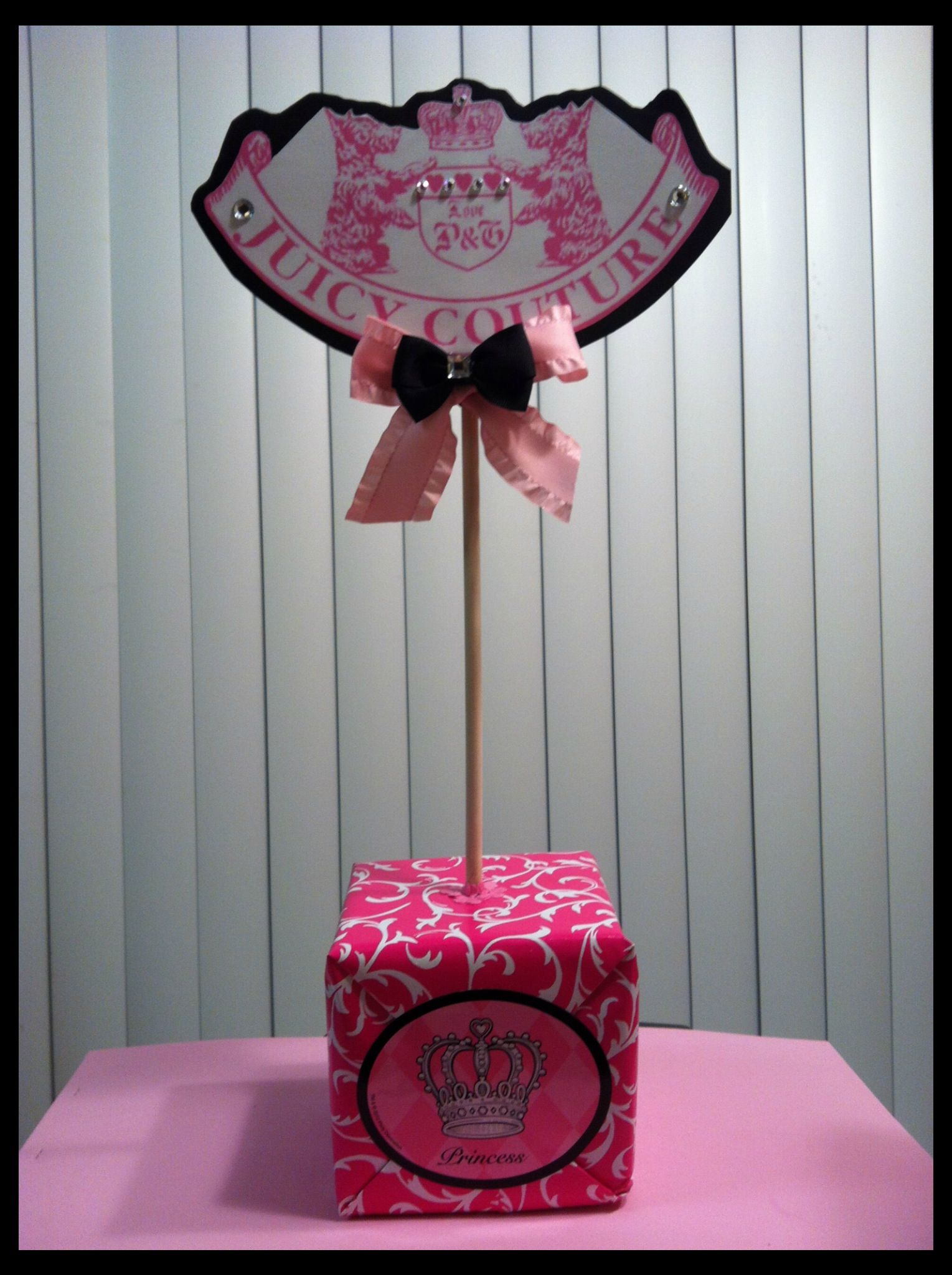 Juicy Couture Theme Centerpiece