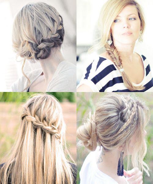 Summer hair ideas involving braids :)