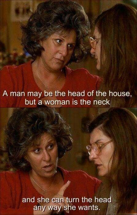 When woman turns mans head