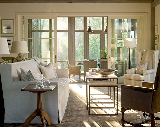 With  subtle palette and practical furnishings this lake keowee house is both inviting elegant in design by beth webb interiors also beautiful pinterest rh